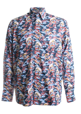 Japanese Motif Printed Shirt