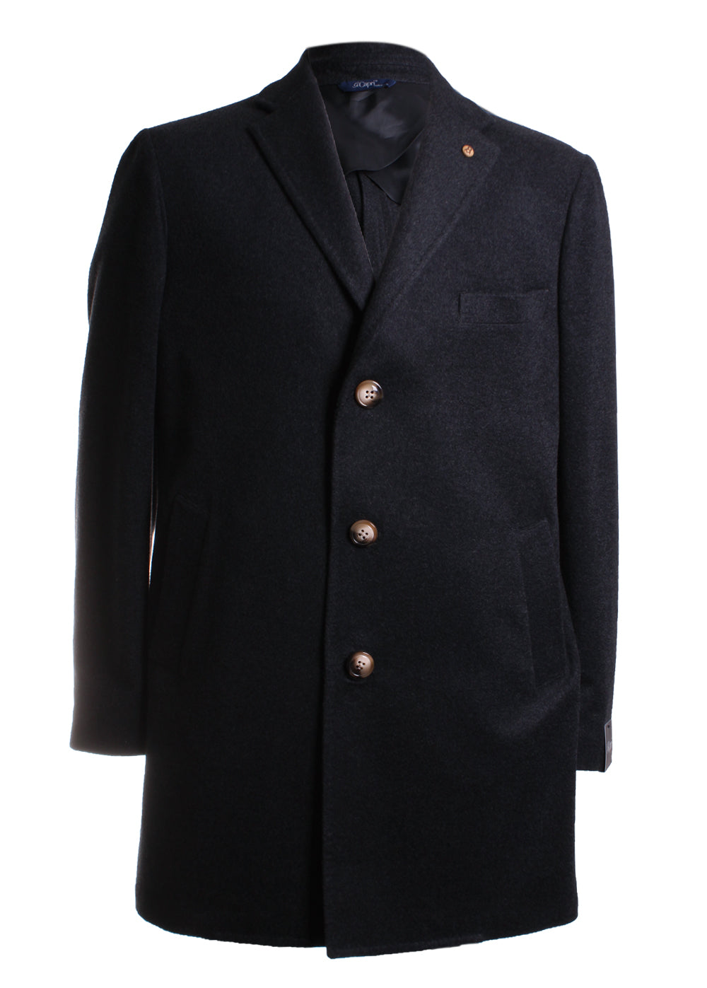 Gi Capri Overcoat in Black