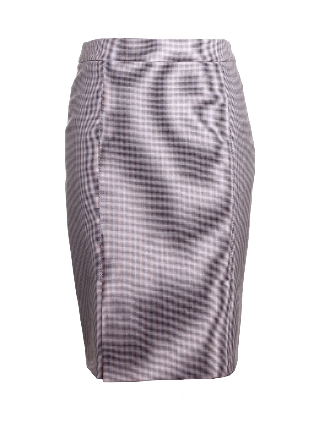 Venisia Houndstooth Wool Skirt