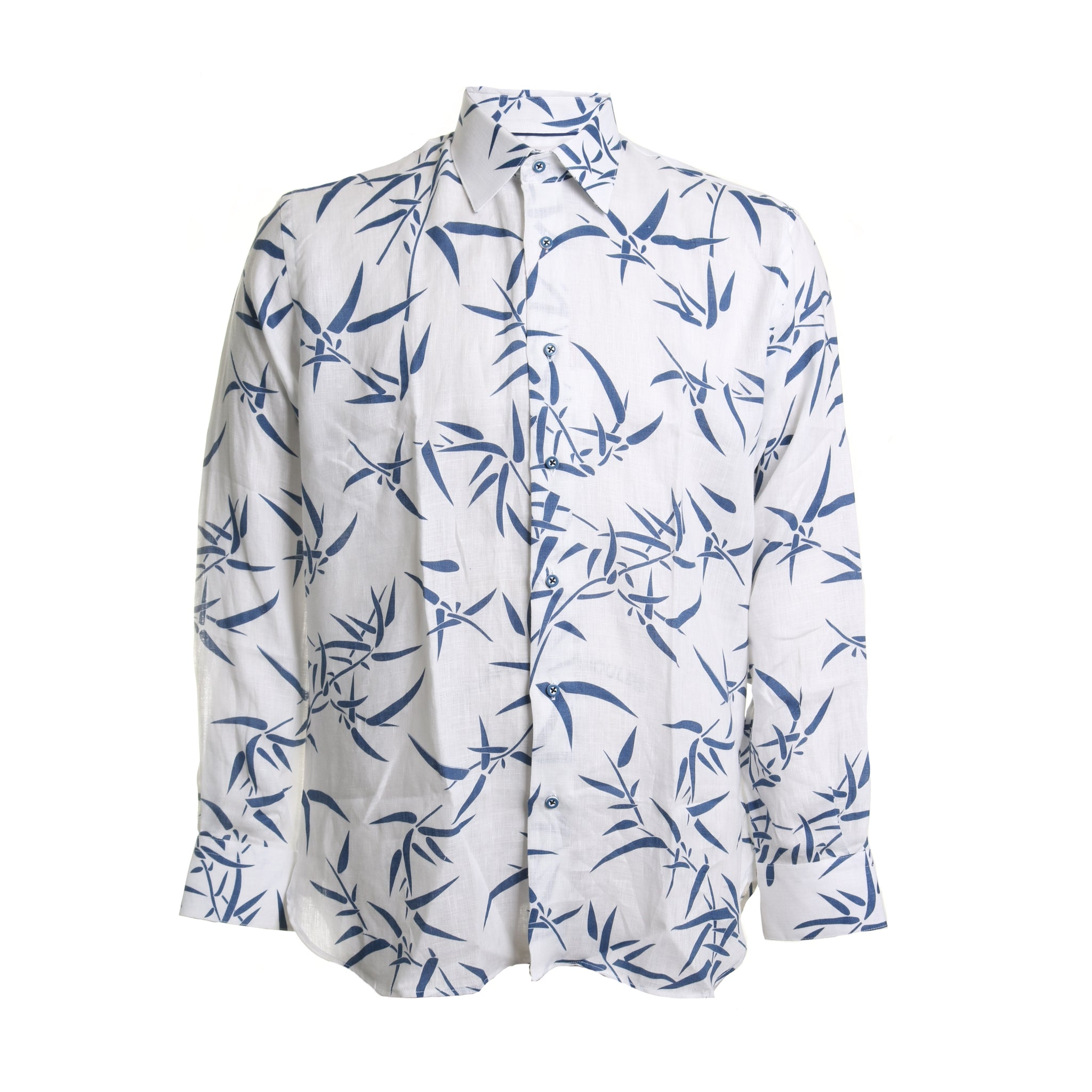 Printed Linen Button Down