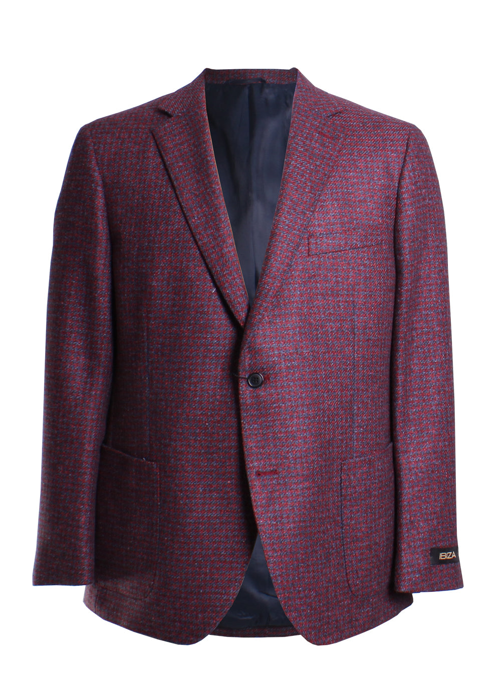Ibiza Campino Houndstooth Sport Coat in Red