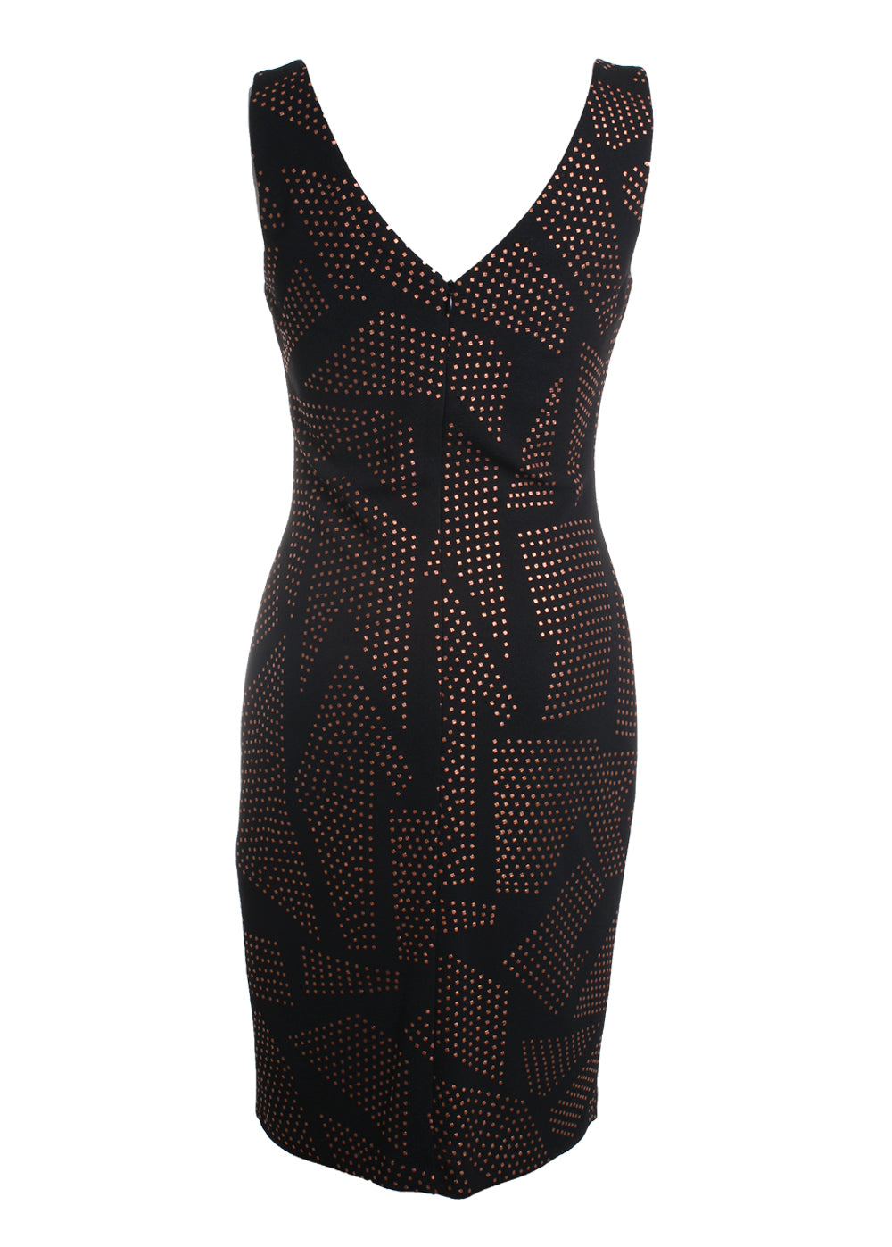 Flocked Abstract Dotted Shift Dress