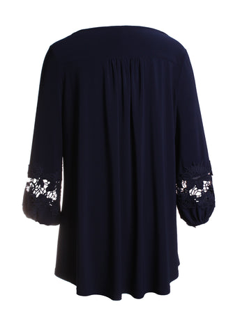 Long Sleeve Lace Detailed Blouse