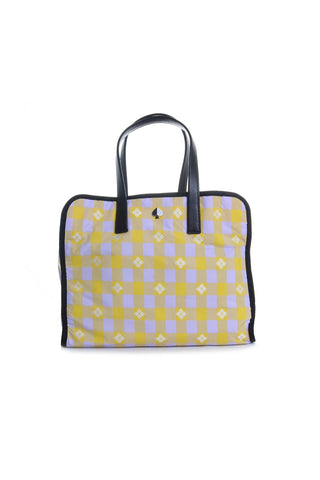 Morley Nylon Plaid Large Tote