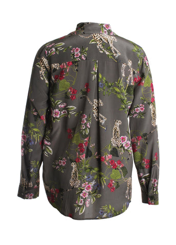 Nina Tropical Print Blouse