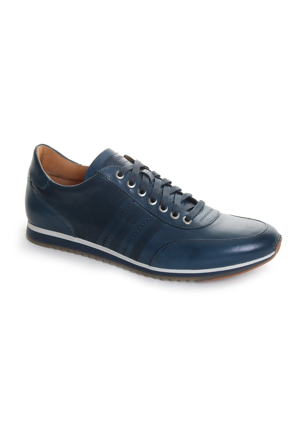 Magnanni Men's Merino Sneaker in Navy