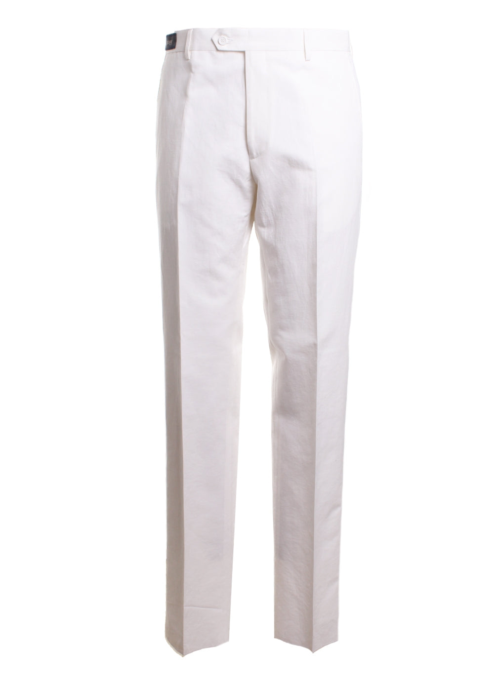 Linen Straight Leg Trousers Pants in White