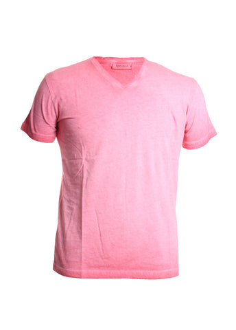 Marcello Men's Oil Stained Tee Shirt in Red