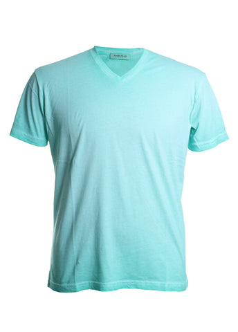 Marcello Men's Oil Stained Tee Shirt in Apple