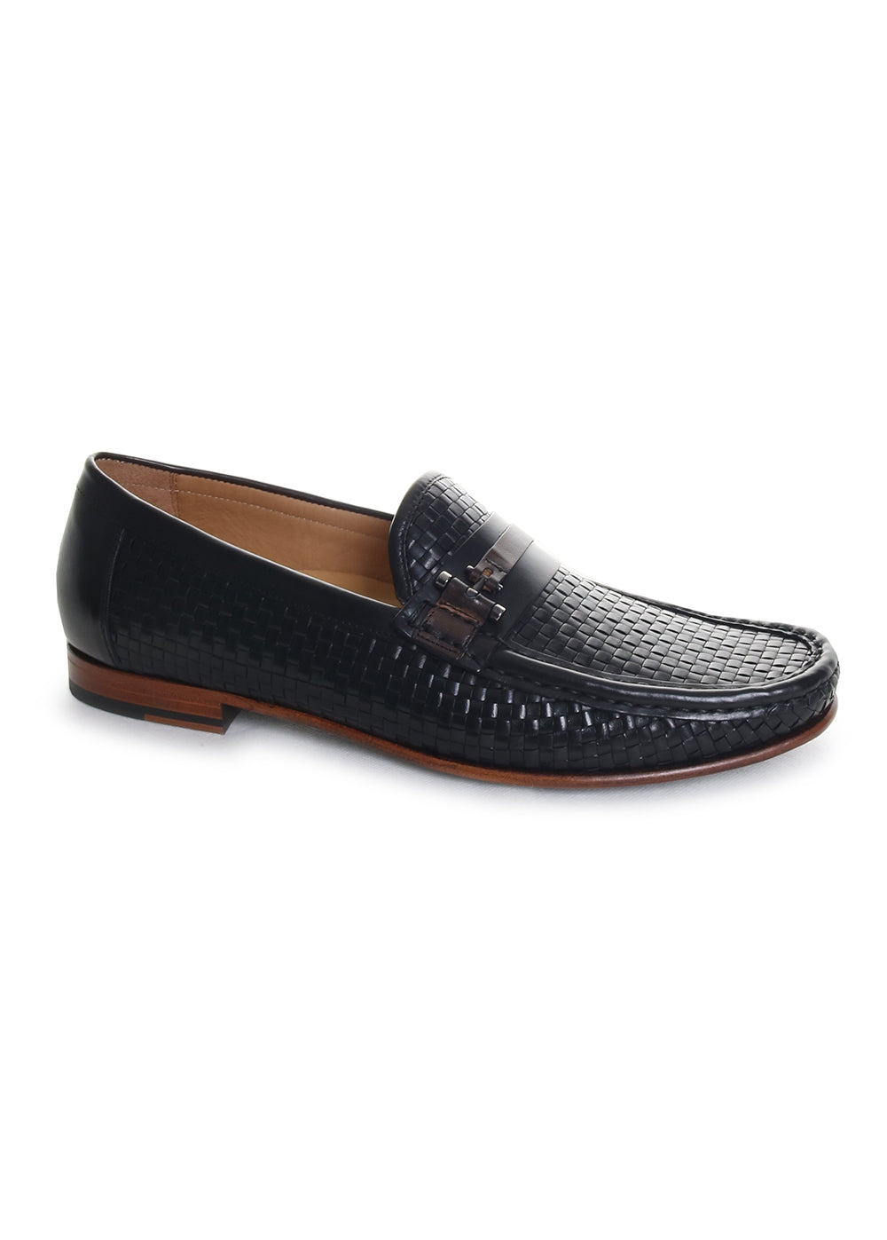 Banderas Woven Leather Bit Loafers