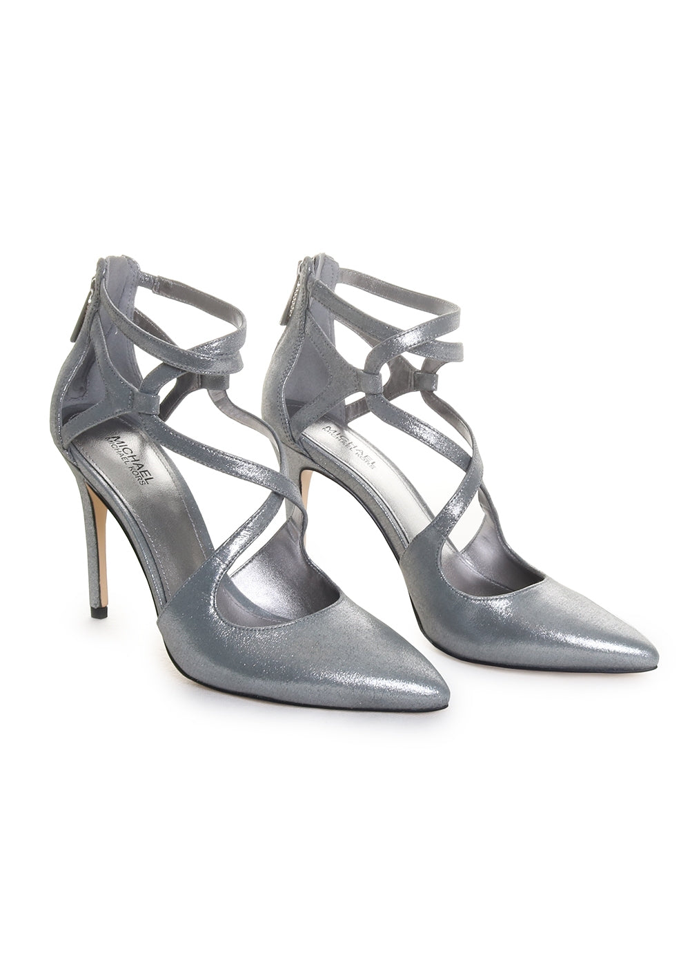 Michael Kors Catia Strappy Heeled Sandal Pumps in Sterling