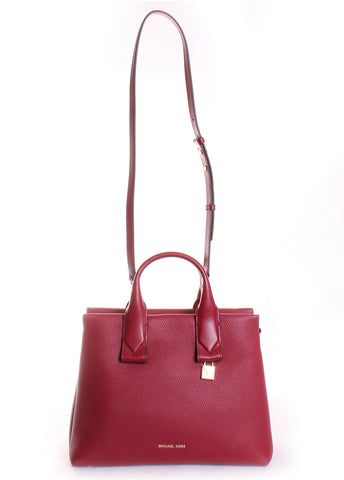 Rollins Large Pebbled Leather Satchel