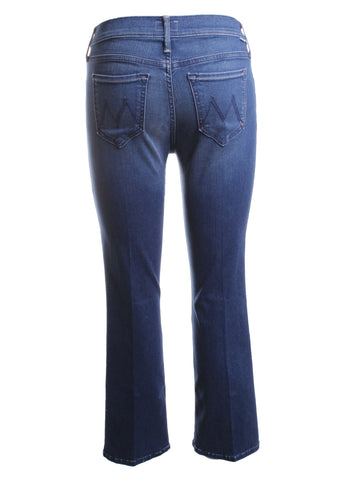 MOTHER Outsider Crop Bootcut Jeans in Fast Times