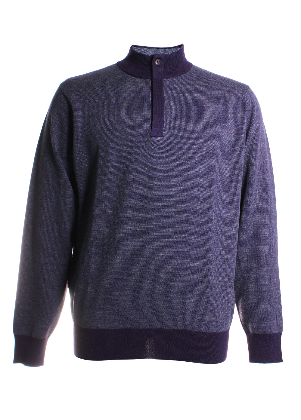 Birdseye Quarter Zip Sweater