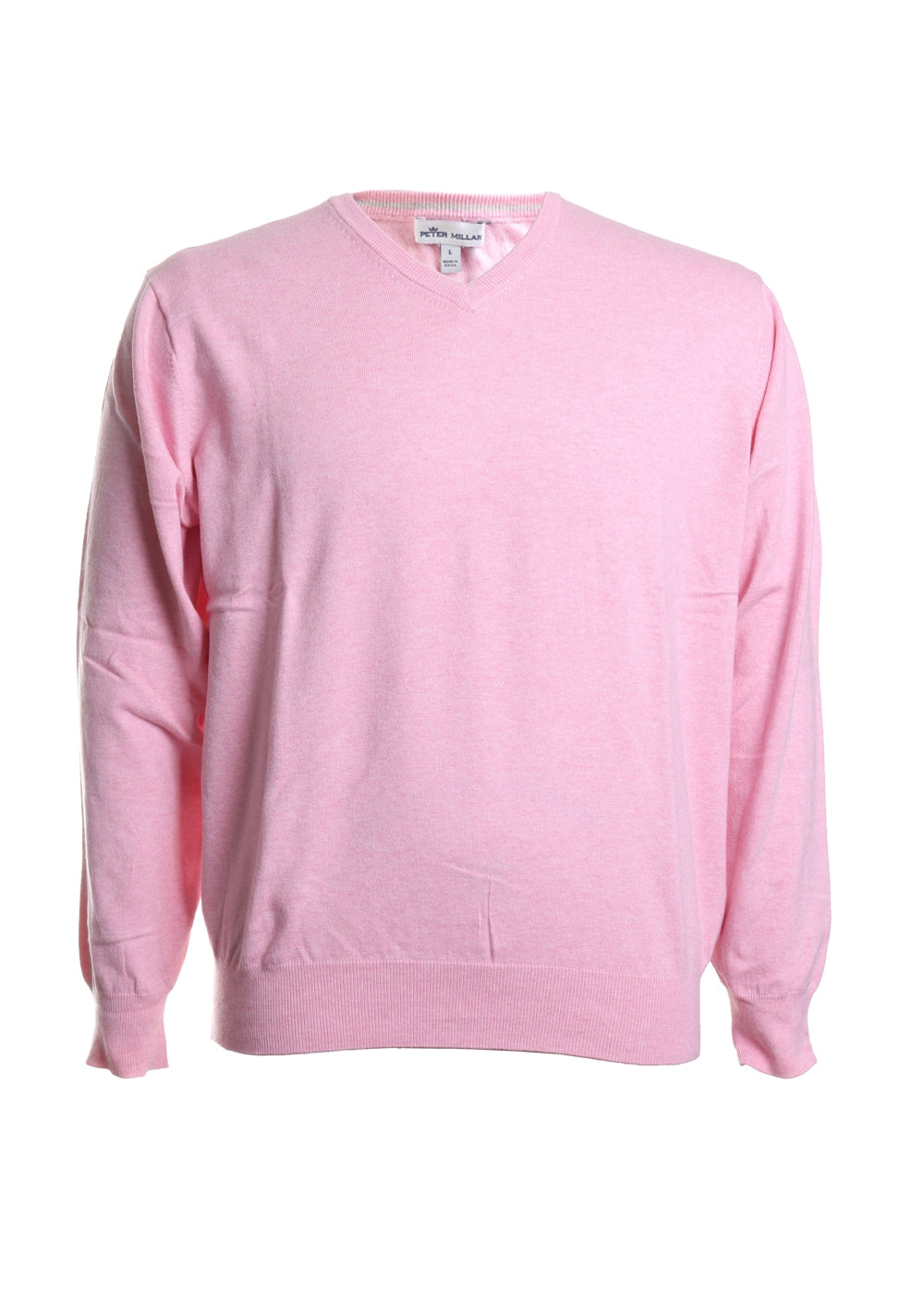 Soft Cotton Long Sleeve V Neck Sweater