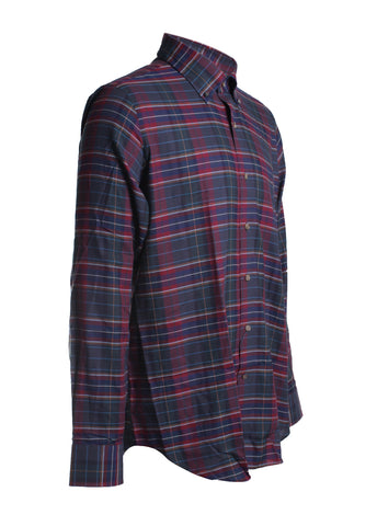 Peter Millar Mayfair Tartan Sport Shirt in Kingswood