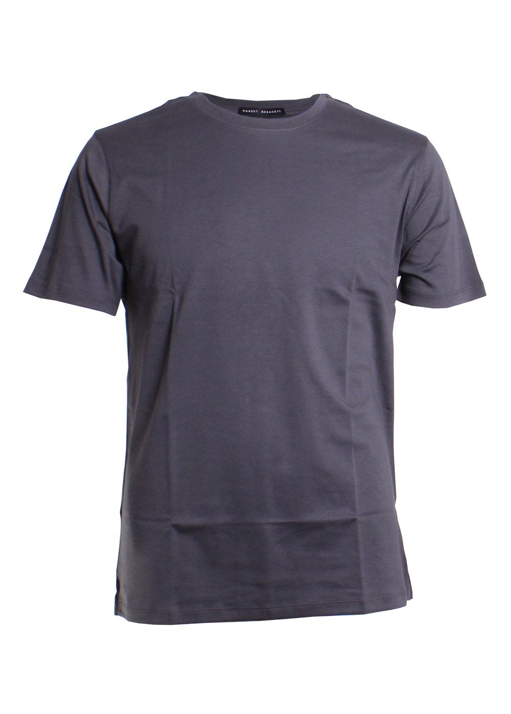 Robert Barakett Georgia Crew Neck T-Shirt in Iron