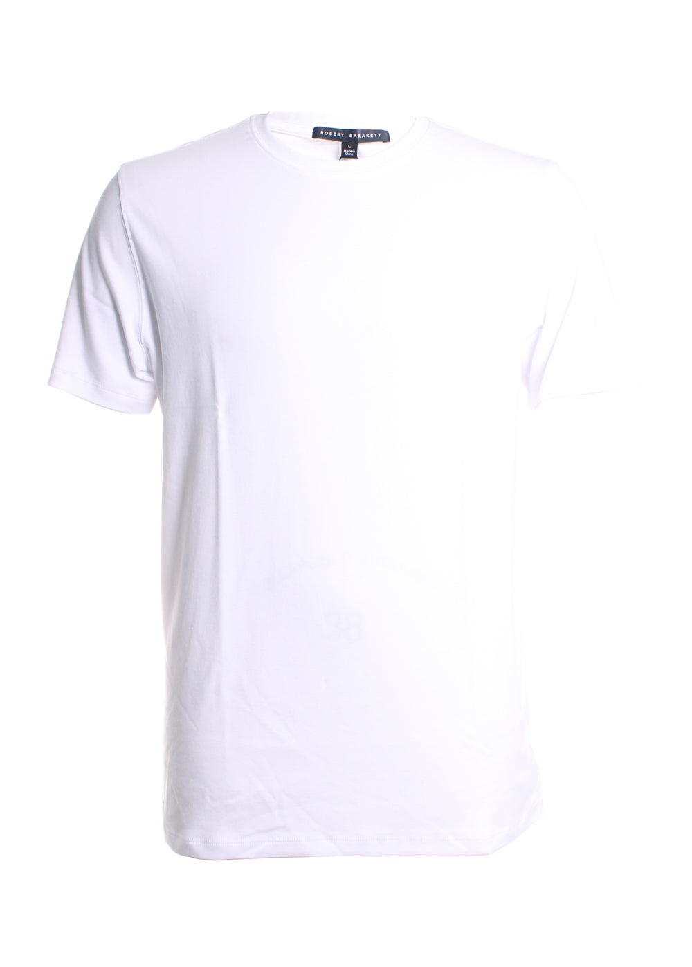 Robert Barakett Georgia Crew Neck T-Shirt in White