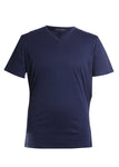Robert Barakett Georgia V-Neck T-Shirt in Blue Night