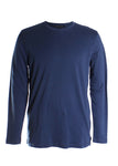 Robert Barakett Georgia Long Sleeve Crew T-Shirt in Alaska Blue