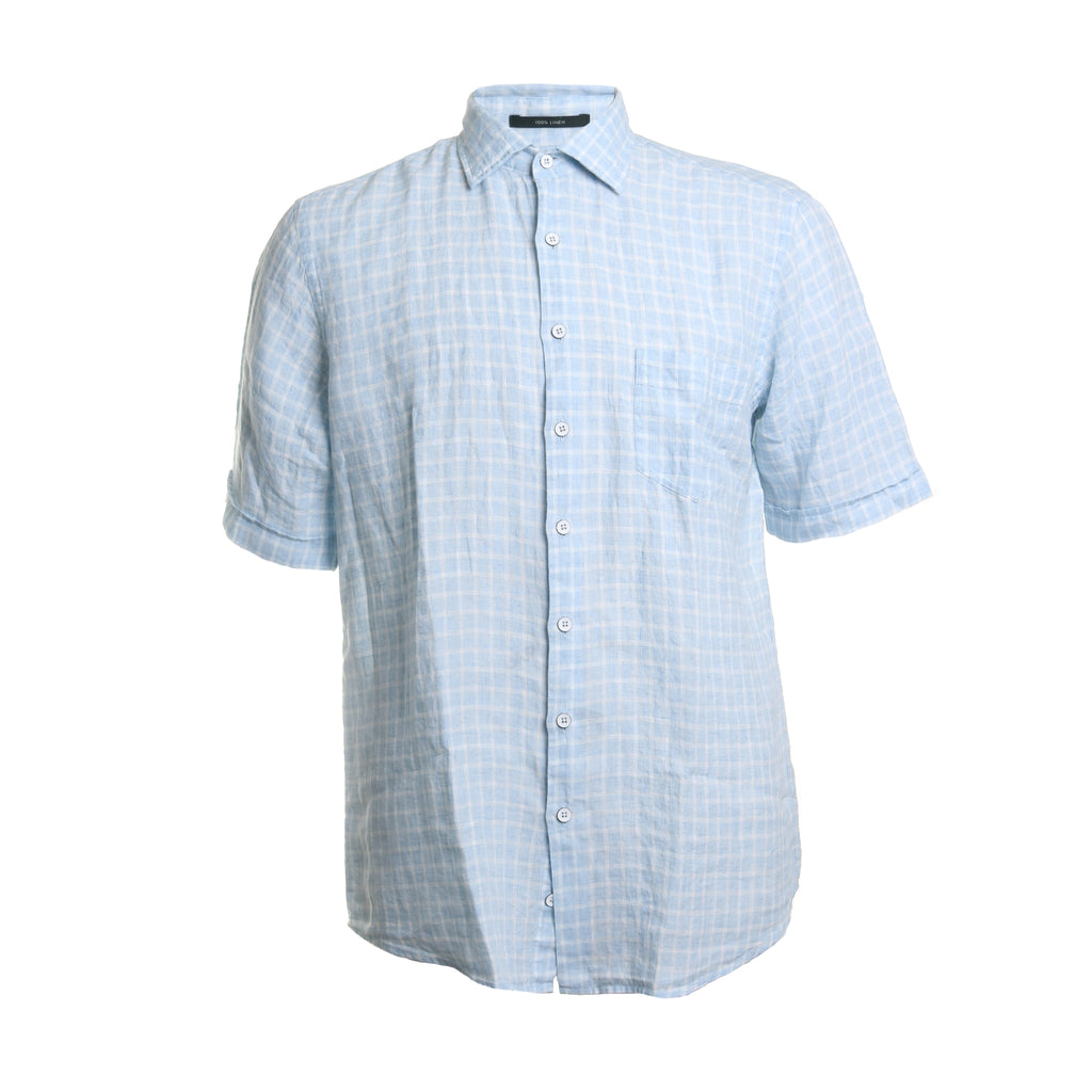 Avonside Linen Plaid Button Down Shirt