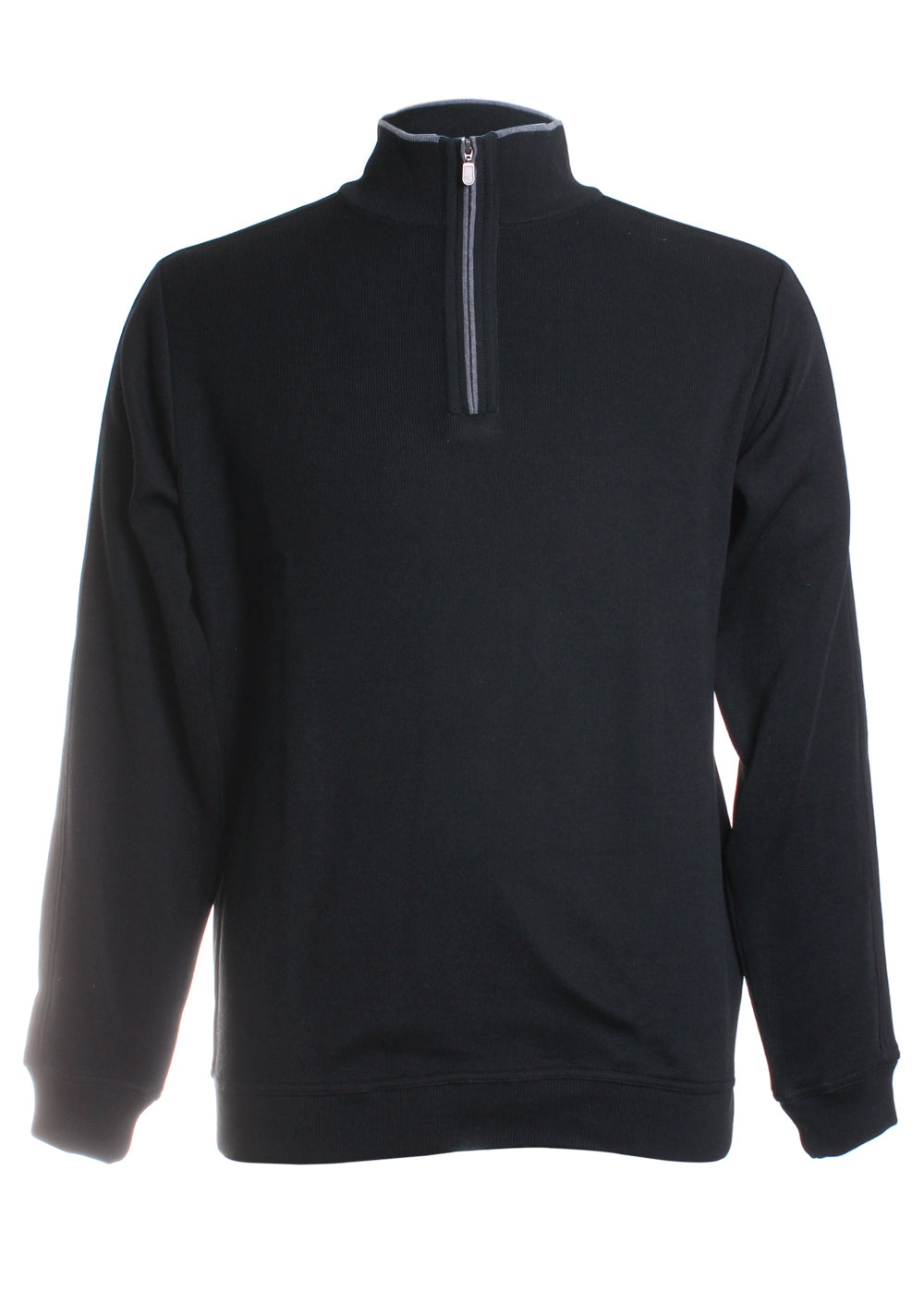 St. Croix Quarter-Zip Sweater in Black