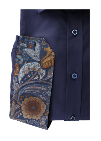 Stenstroms Dress Shirt in Navy