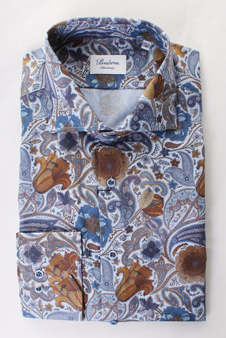 Stenstroms Floral/Paisley Print Dress Shirt