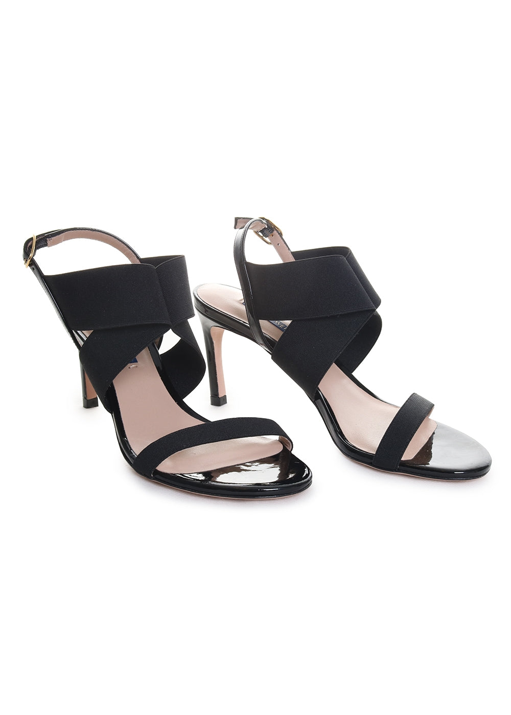 Alana Leather Open Toe Heeled Sandals