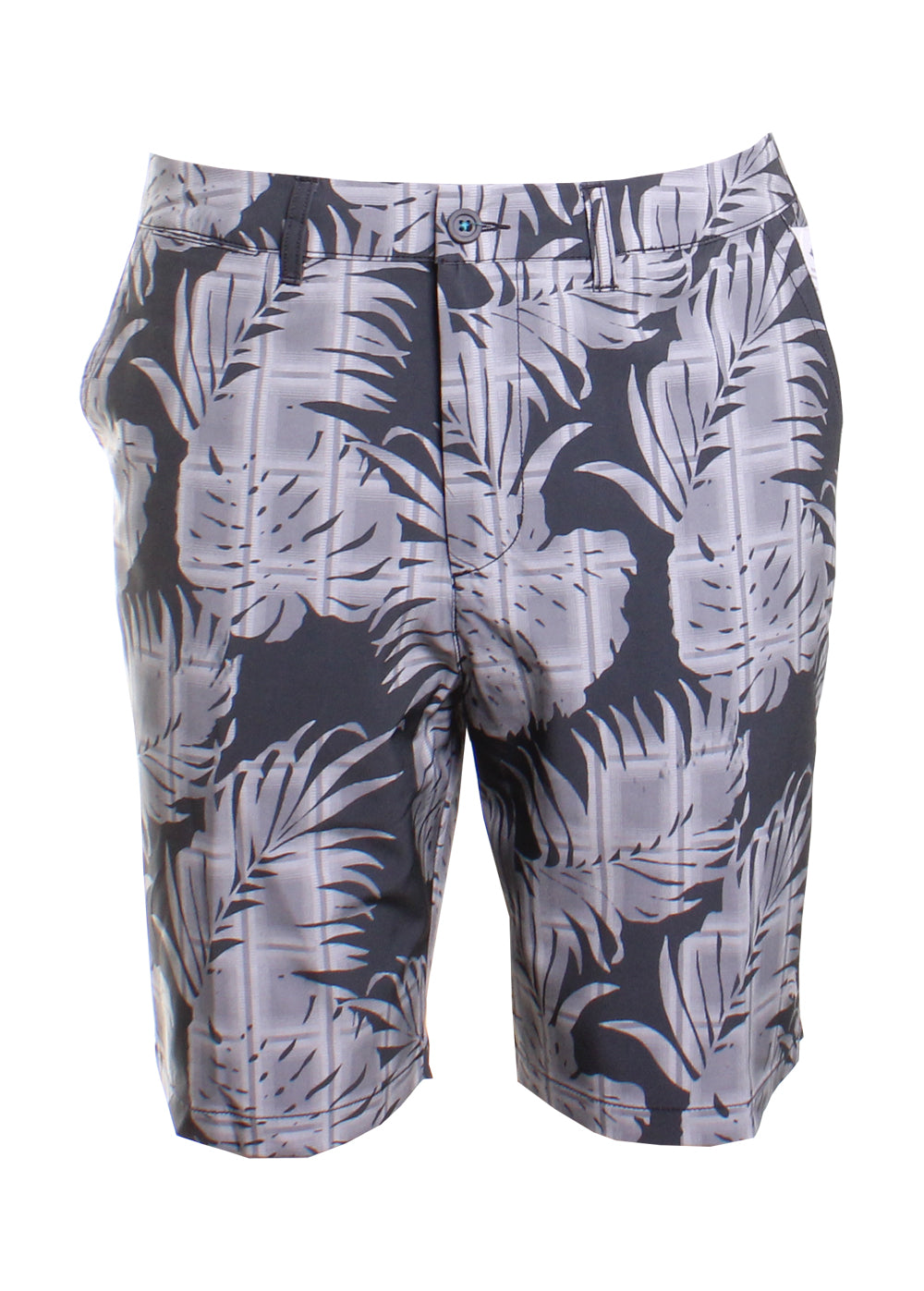 Tommy Bahama Cayman Palm Del Plaid Board Shorts in Coal