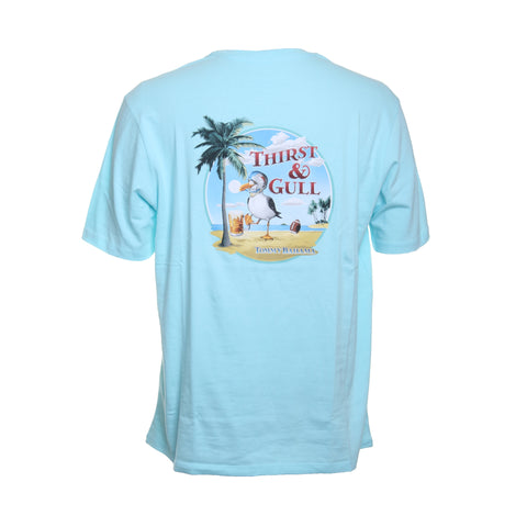 Tommy Bahama Thirst & Gull Cotton Graphic Tee in Sea Spray