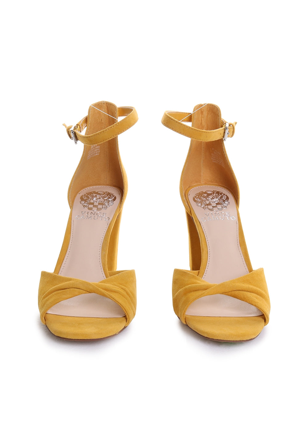 Wesher Twisted Strap Suede Heeled Sandals