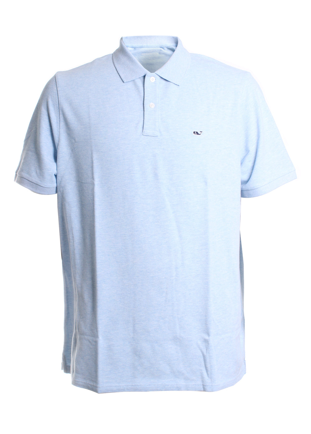 Vineyard Vines Stretch Pique Polo in Jake Blue