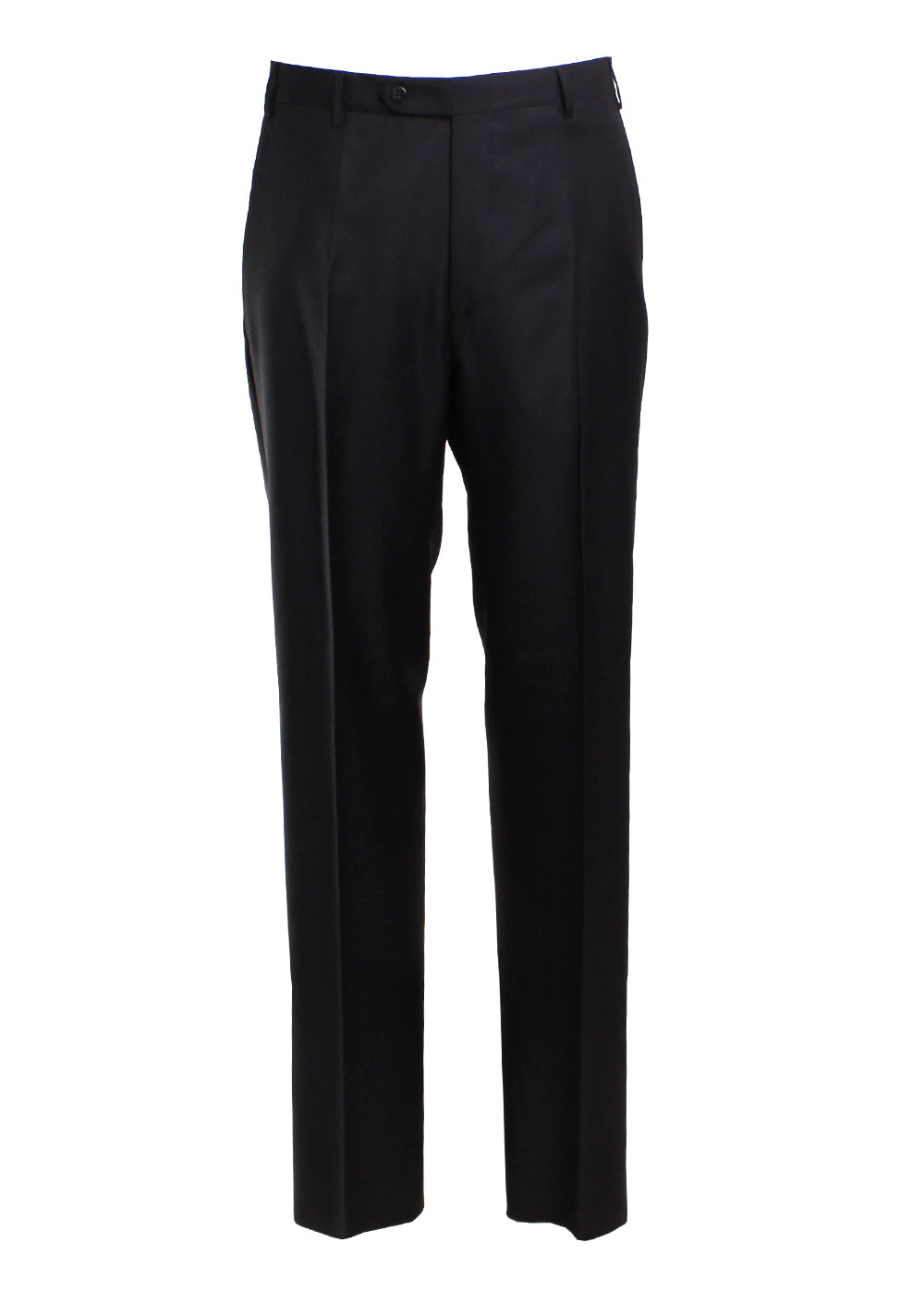 Zanella Todd Flat Front Trousers in Black