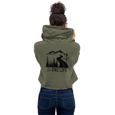 Crop Hoodie - Let the Journey Begin