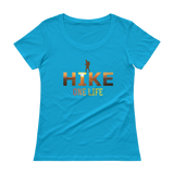 ONE LIFE HIKE SUNSET - Ladies' Scoopneck T-Shirt