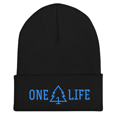 ONE LIFE BLUE LOGO - Cuffed Beanie