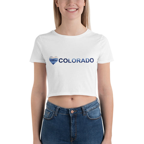 LOVE COLORADO - Crop T-Shirt