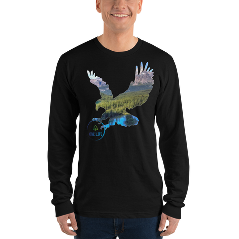 ONE LIFE EAGLE - Men's Long Sleeve