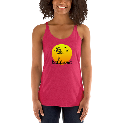 CALIFORNIA SUNSET - Racerback Tank