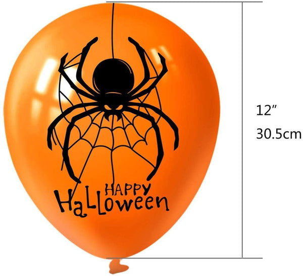 Ballons en Latex 18 Pcs Halloween Décorations Halloween Ballons De Fête Amusante - Atoutgirls.com