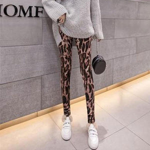 Fashion Casual Sexy  Print Golden Fleece And Wear Leggings