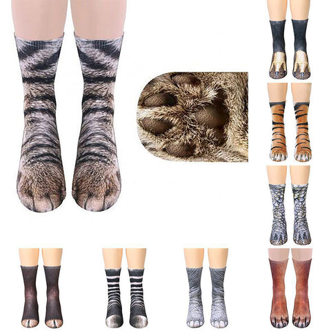 Adult children's universal 3D printed animal hoof socks
