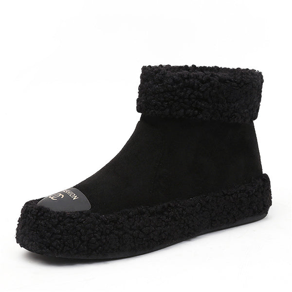 New Snow Boots Wild Boots Winter Flat Women's Shoes