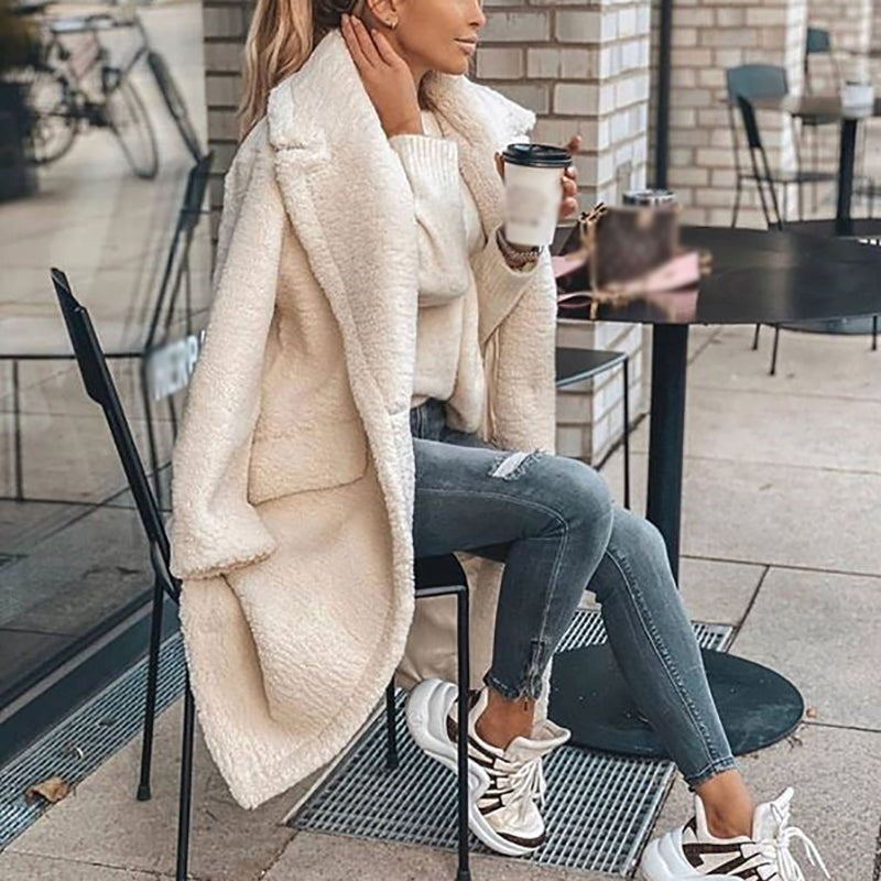Women's Casual Simple Solid Color Coat