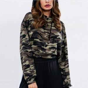 Hooded  Camouflage  Basic Hoodies