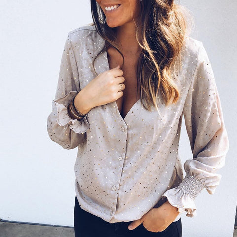 Bronzed Wild Loose Blouse