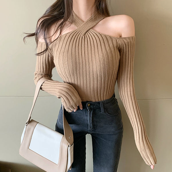 Sexy Off-shoulder Long Sleeve Top