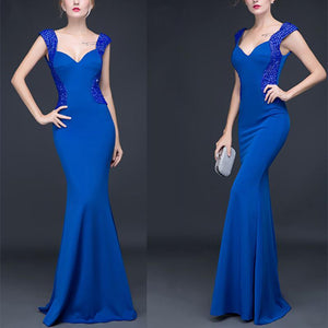 Deep V Sexy Slim  Fishtail Evening Dress