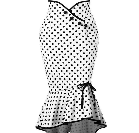 Sexy Elegant Polka Dot Bodycon Skirt